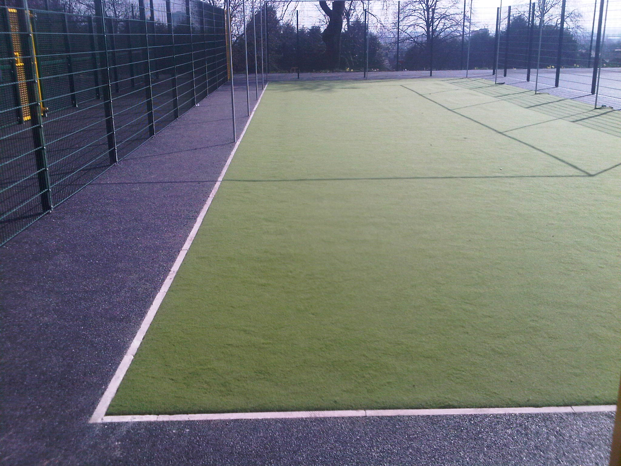 246m² sand filled carpet for cricket net in Seedley, Salford, Greater Manchester