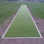 Cricket wicket in Seedley, Salford, Greater Manchester