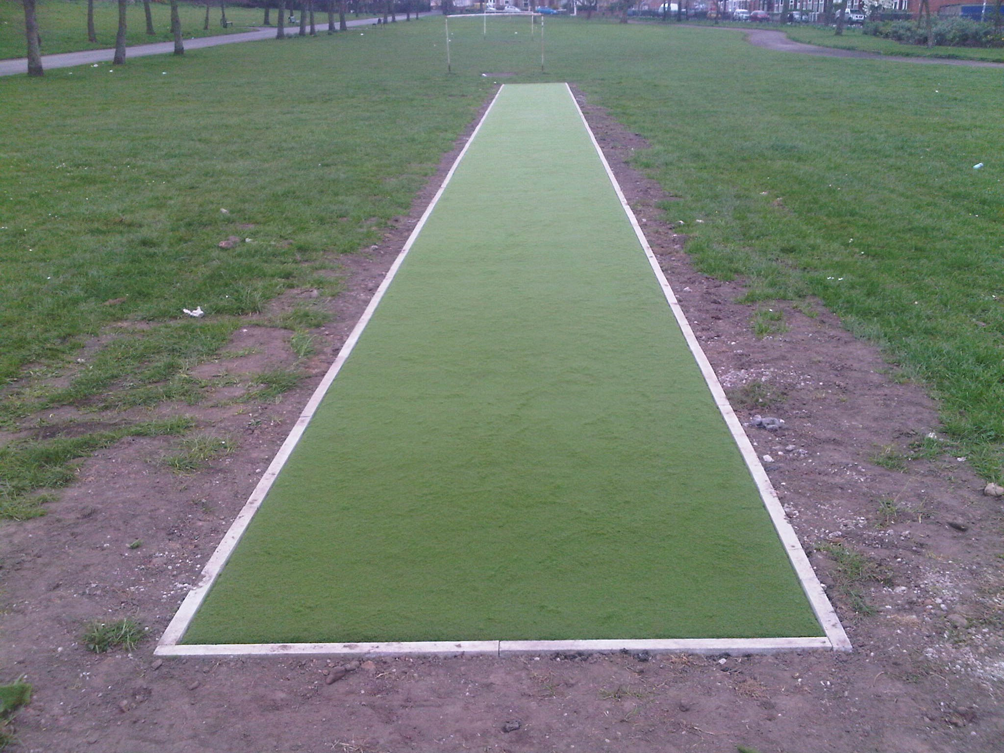 Cricket wicket inSeedley,Salford, Greater Manchester