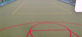 Sand filled carpet for Multi Use Games Area (MUGA) in Islington, London