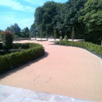 953m² Addagrips resin bound surfacing to drive and car park in Blackburn, Lancashire
