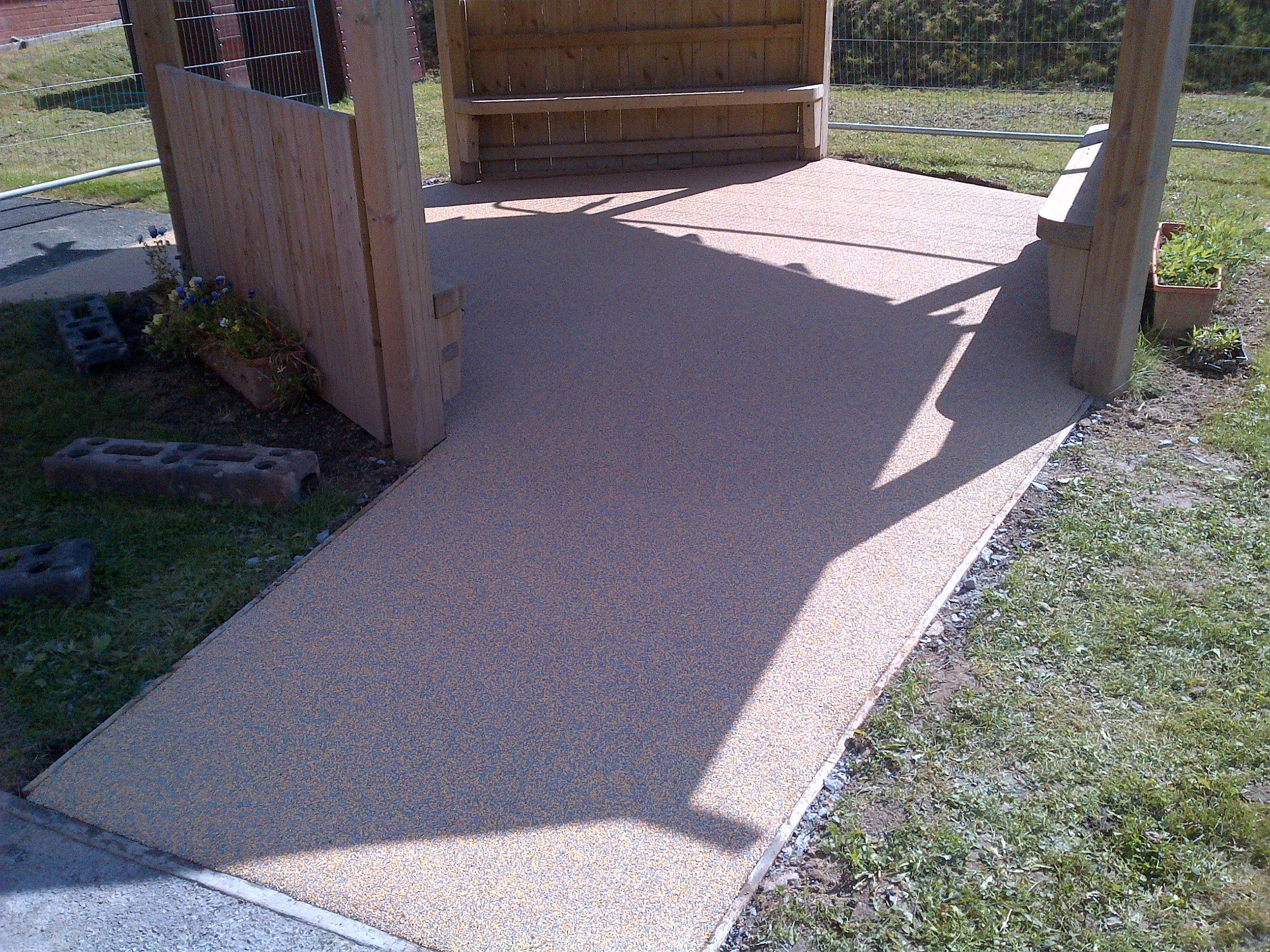 17m² 50% beige and 50% grey wetpour in Devon