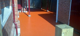 46m² terracotta wetpour in Torquay