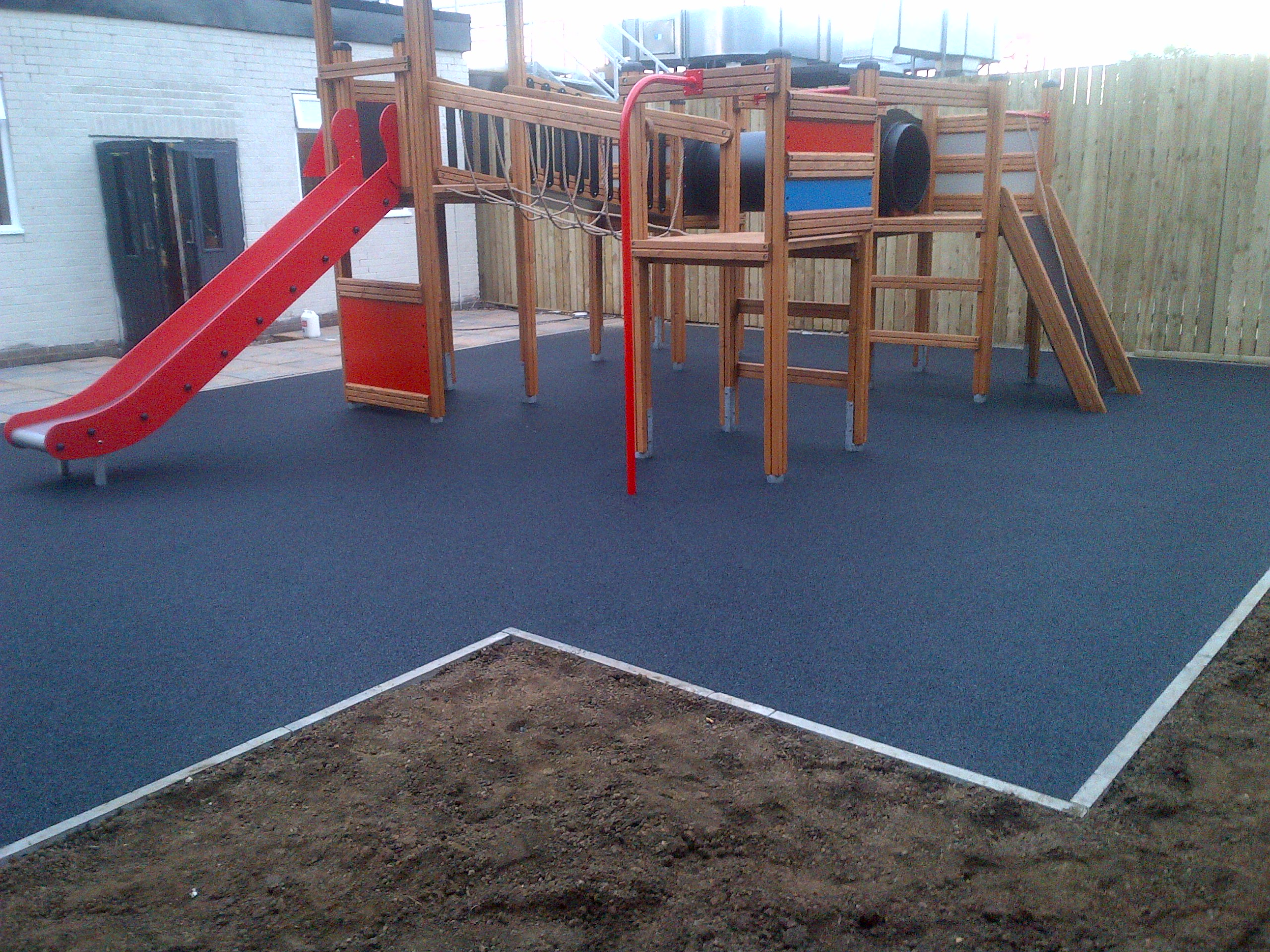 68m² black wetpour in Rotherham, South Yorkshire